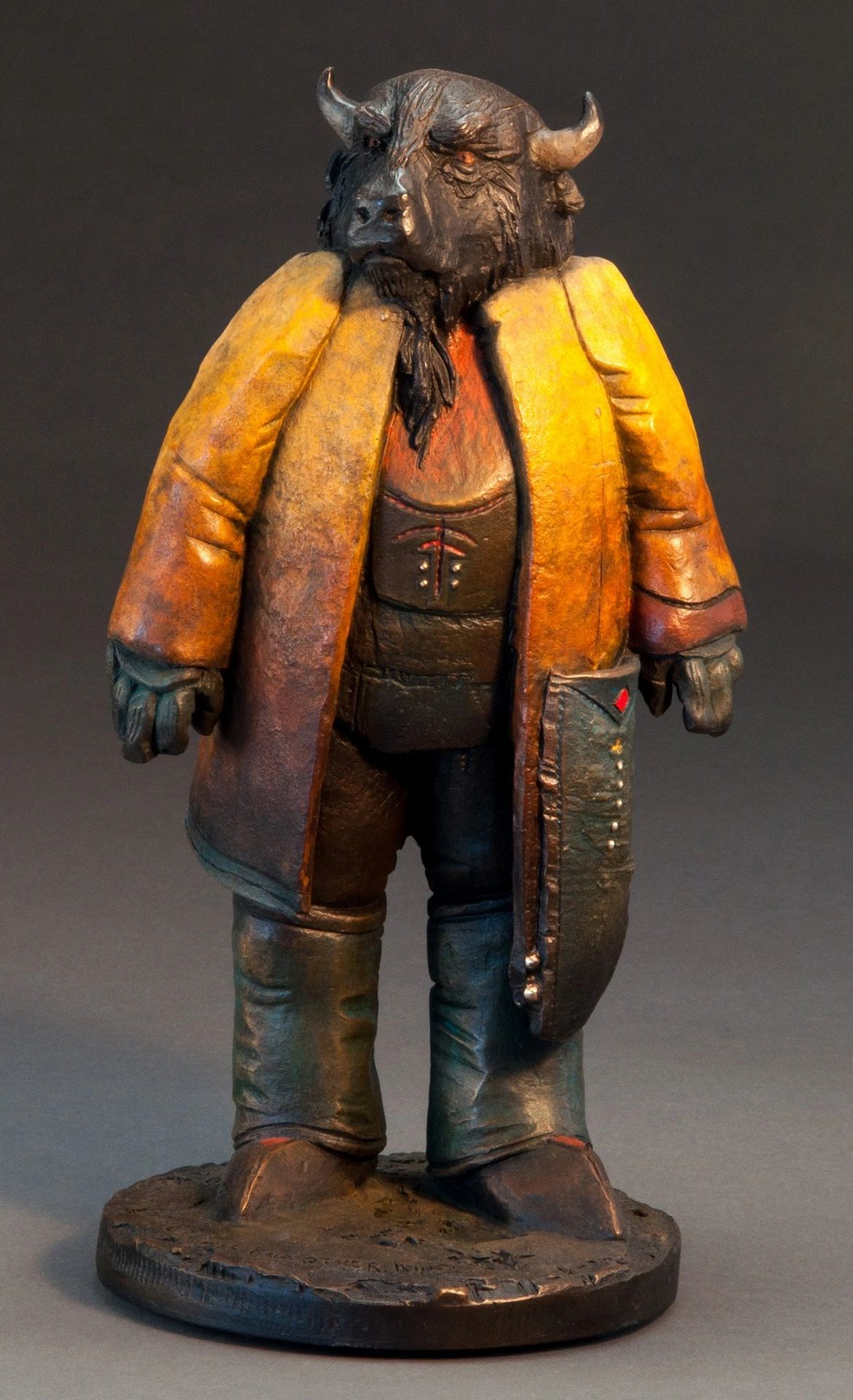 We're All the Other Kind, Brubaker, Bronze Sculpture, Rogoway Gallery