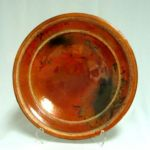 Bob Smith 406, Raku Plate Art, Rogoway Gallery