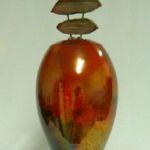 Bob Smith 426, Raku Vessel Art, Rogoway Gallery