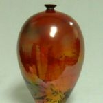 Bob Smith 433, Raku Vessel Art, Rogoway Gallery