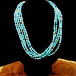 5 Strand Sleeping Bueaty & Multi Stone, Artie Yellowhorse, Navajo Jewelry, Rogoway