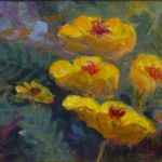 Backyard Poppies 1, Lil Leclerc Painting, Rogoway