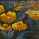 Backyard Poppies 2, Lil Leclerc Painting, Rogoway