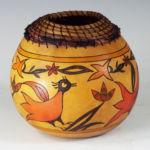 Desert Birds, Judy Richie Gourd Art, Rogoway Gallery
