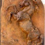 Caballo Del Rio - bas relief, Carol Ruff Franza, Rogoway Gallery