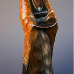Cahuilla Seed Gatherer, Felicia Sculpture, Rogoway Turquoise Tortoise Gallery