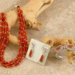Mediterranean Coral Set, Artie Yellowhorse, Navajo Jewelry, Rogoway