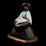 Girl with the Calla Lilies, Felicia Sculpture, Rogoway Turquoise Tortoise Gallery