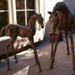 Mare and foal life-size, Siri Hollander, Life Size Horse Scuplture