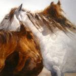 Nokota Stud Trio, Lou Maestas Painting, Rogoway