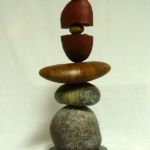 Stacked Stones, Warren Cullar, Bronze, Rogoway