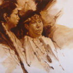 Watching the Pow Wow, Lou Maestas Painting, Rogoway