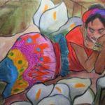 Suenos Dulce (Pillow), Gretchen Lopez, Rogoway Gallery